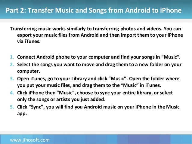 send music from android to iphone how to transfer photos and from android to 1607