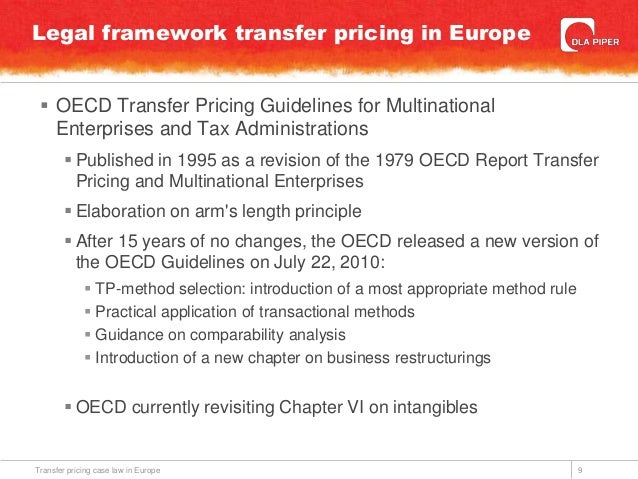 oecd transfer pricing guidelines summary