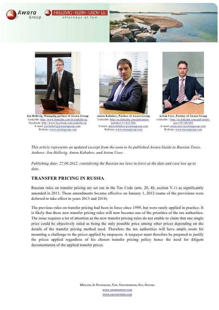 Jon Hellevig, Managing partner of Awara Group          Anton Kabakov, Partner of Awara Group             Artem Usov, Partn...