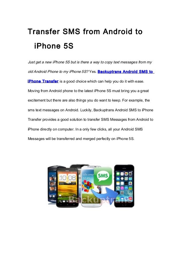 Transfer SMS from Android to iPhone 5S With Ease