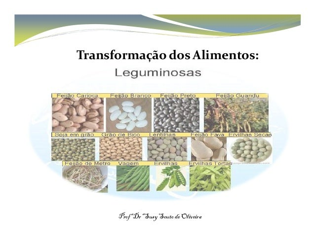 Transformação dos Alimentos:  ProfªDrªSusySouto de Oliveira