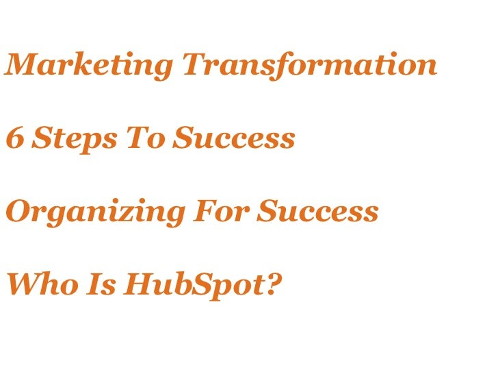 Transform Your Marketing with HubSpot Slide 2