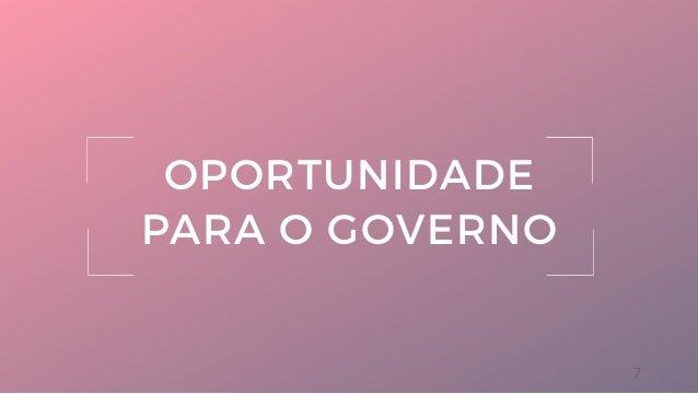 7 OPORTUNIDADE PARA O GOVERNO