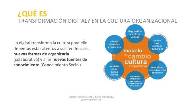 Lo digital transforma la cultura para ello debemos estar atentos a sus tendencias , nuevas formas de organizarla (colabora...