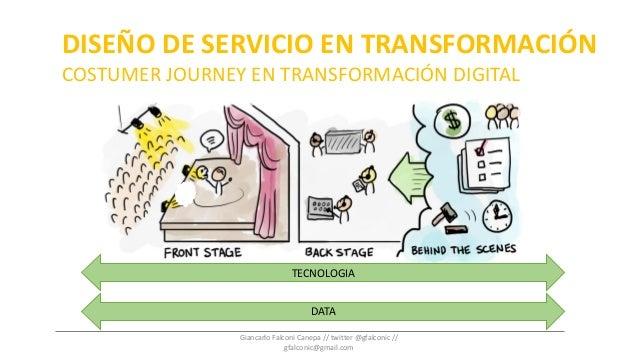 DISEÑO DE SERVICIO EN TRANSFORMACIÓN COSTUMER JOURNEY EN TRANSFORMACIÓN DIGITAL TECNOLOGIA DATA Giancarlo Falconi Canepa /...