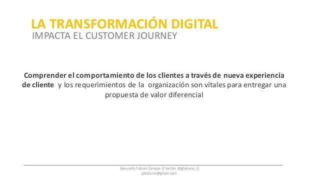 Comprender el comportamiento de los clientes através de nueva experiencia de cliente y los requerimientos de la organizaci...