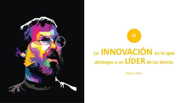 """La INNOVACIÓN es lo que distingue a un LÍDERde los demás """" Steve Jobs"""