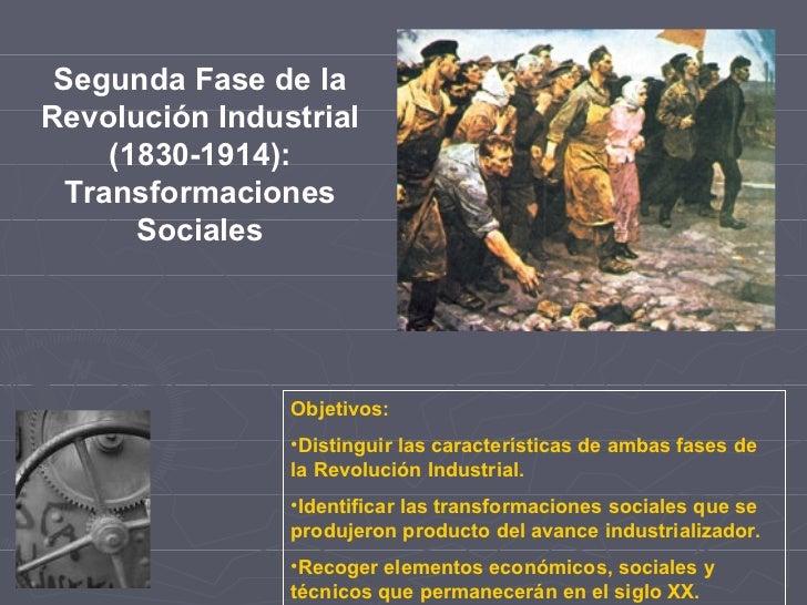 Segunda Fase de la Revolución Industrial (1830-1914): Transformaciones Sociales <ul><li>Objetivos: </li></ul><ul><li>Disti...