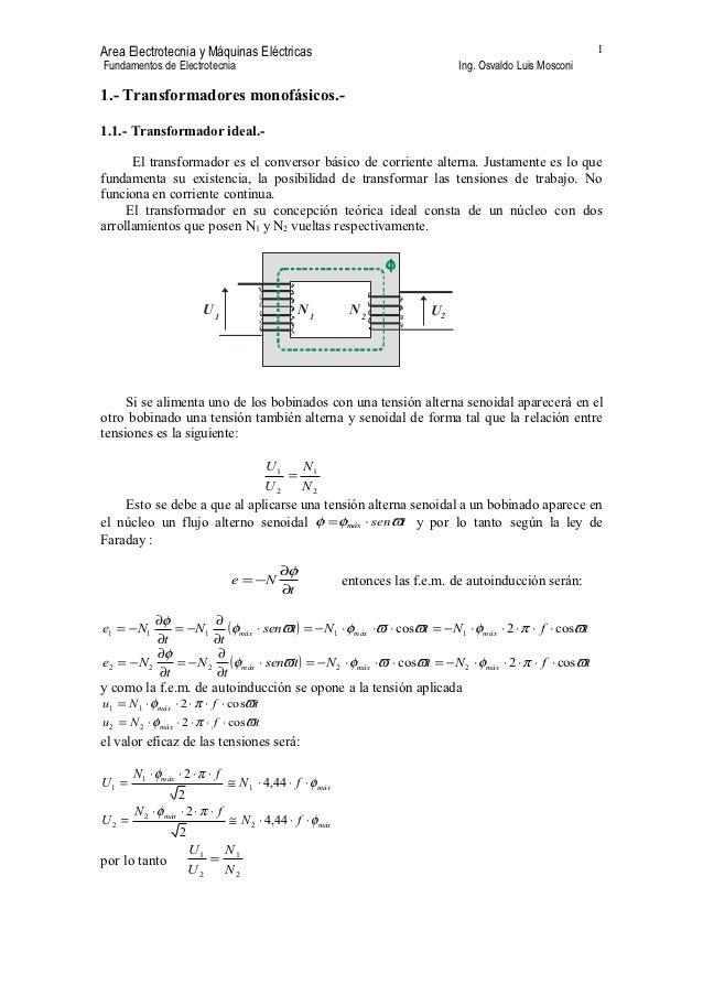 Area Electrotecnia y Máquinas Eléctricas                                                                    1Fundamentos d...