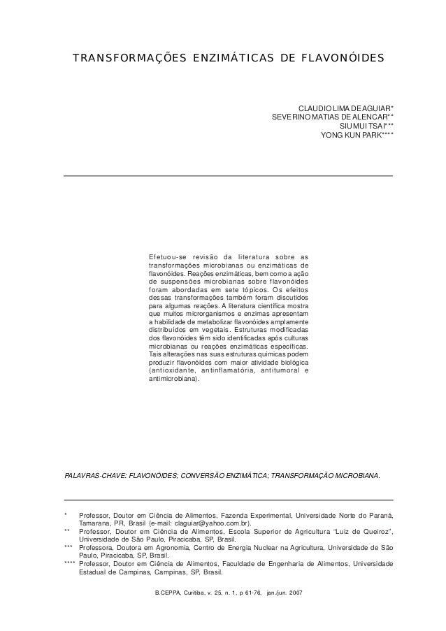 B.CEPPA, Curitiba, v. 25, n. 1, jan./jun. 2007 61B.CEPPA, Curitiba, v. 25, n. 1, p 61-76, jan./jun. 2007 TRANSFORMAÇÕES EN...