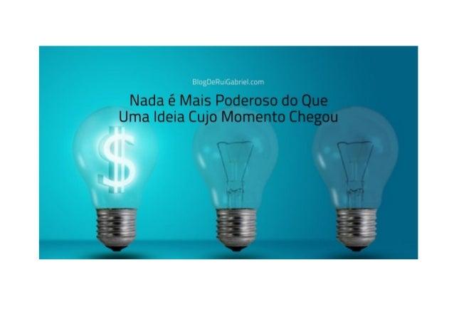 Como Transformar Ideias Em Dinheiro: As 15 Peças do Puzzle Rui Manuel De Matos Amado Gabriel / Tags: atitude, mindset, Qua...