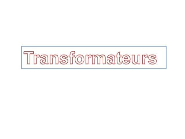 Rôle principal : Augmenter la tension (pour diminuer le courant et ainsi les pertes en lignes) pour le transport de l'éner...