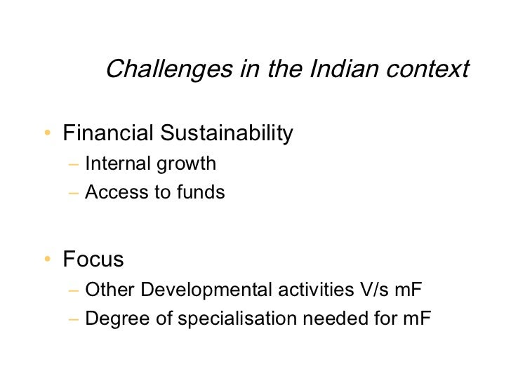 microfinance in indian context