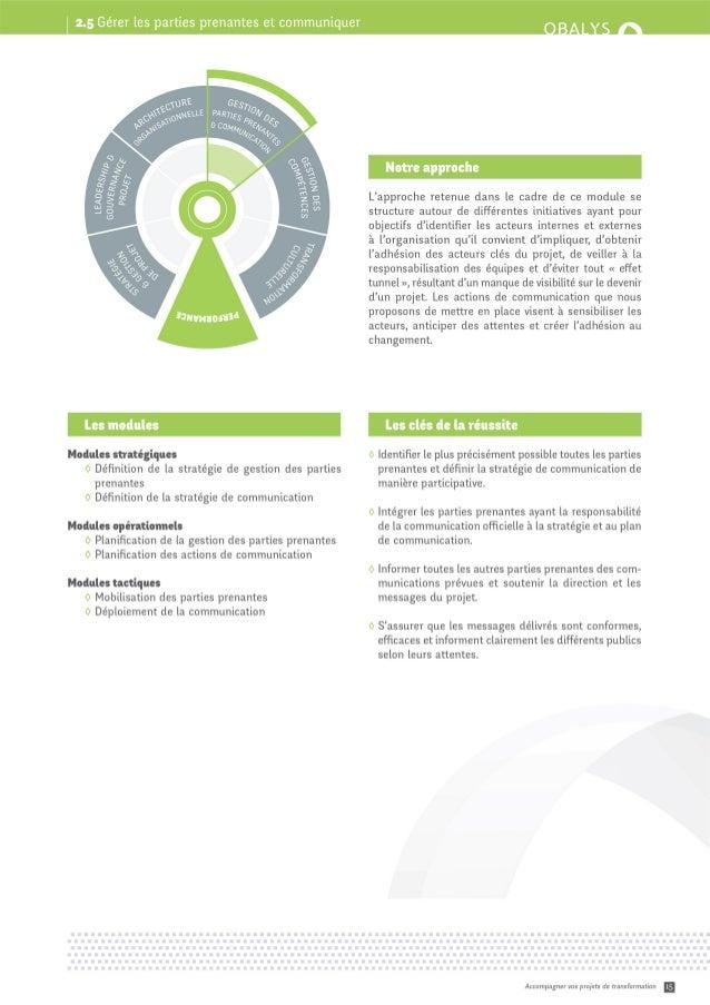 Transformation - Module méthodologique #5 : Gestion des parties prenantes