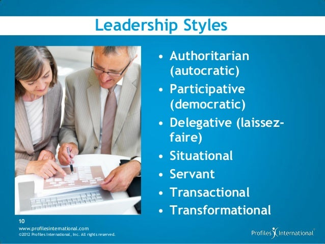 democratic and transformational styles of leadership Transformational leadership occurs where the leader takes a visionary position and inspires people to follow.