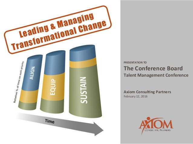 PRESENTATION	   TO	    The	   Conference	   Board	   	    Talent	   Management	   Conference	    	    	    Axiom	   Consul...