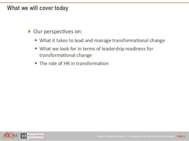 Leading & Managing Transformational Change Slide 2