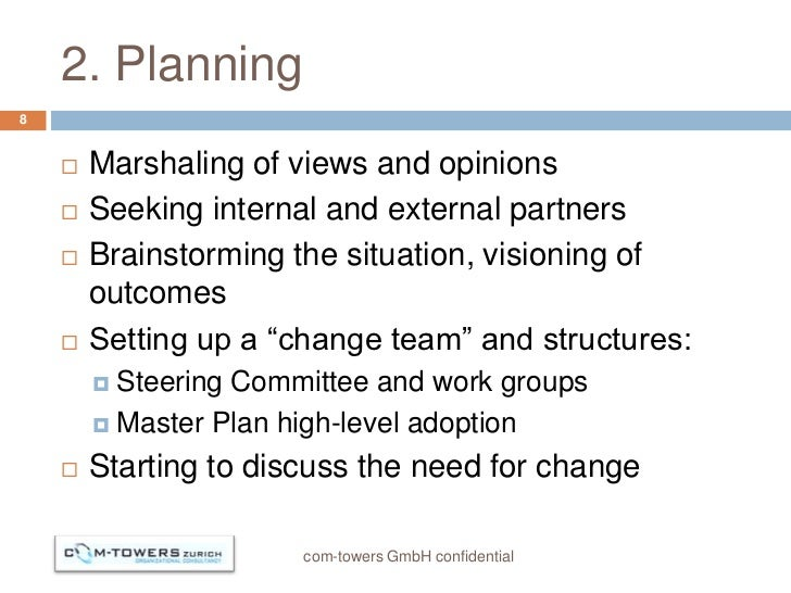 2. Planning8       Marshaling of views and opinions       Seeking internal and external partners       Brainstorming th...