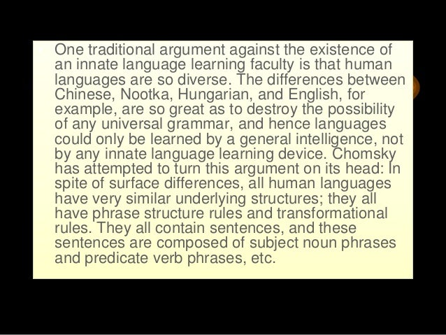 syntax transformational grammar the chomskyan Transformational grammar: transformational grammar, a system of language analysis that recognizes the relationship among the various elements of a sentence and among the possible sentences of a language and uses processes or rules (some of which are called transformations) to express these relationships.