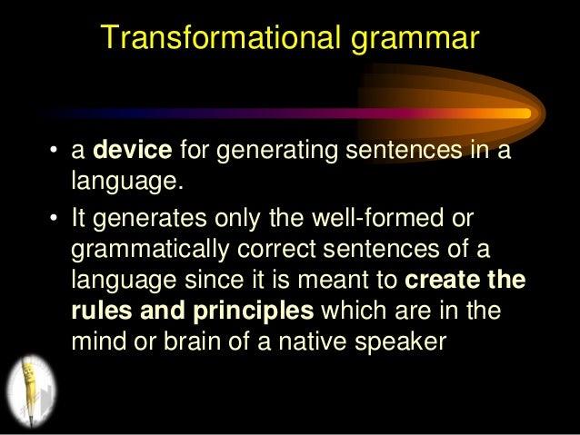importance of generative grammar