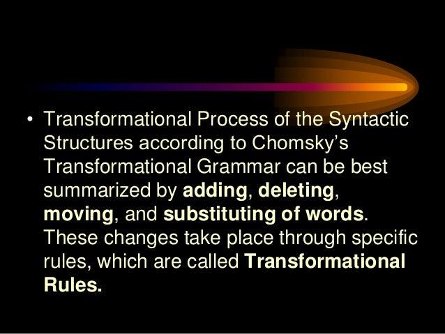 examples of generative grammar
