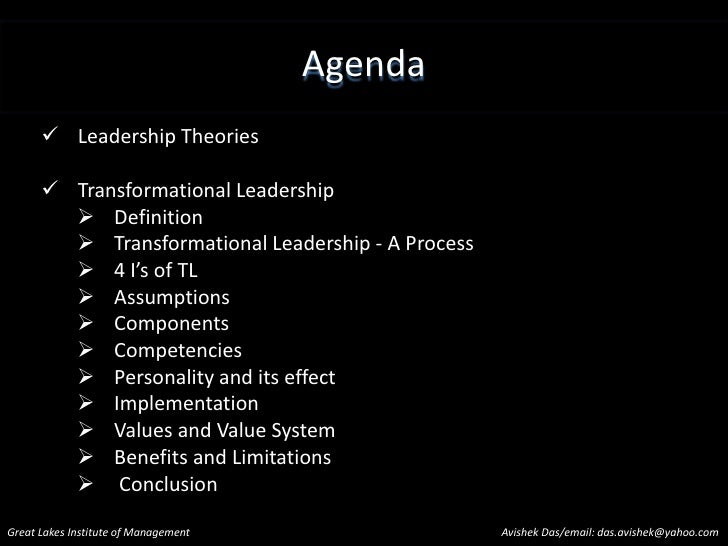 Transformational Leadership Slide 3