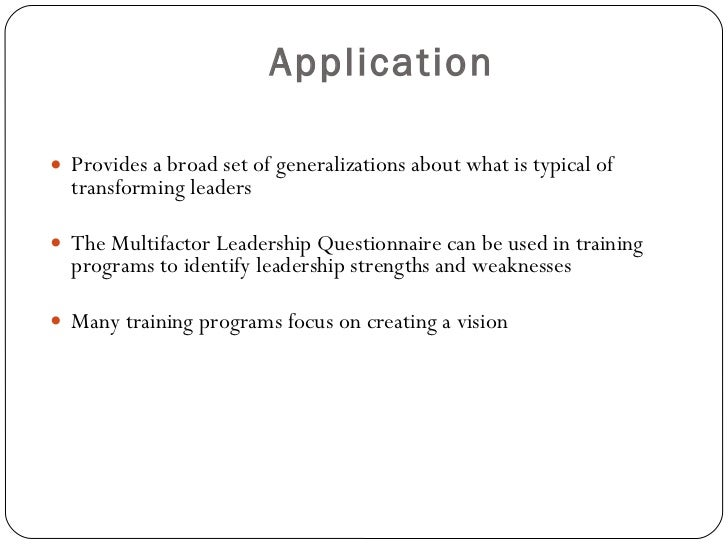 identification of leadership transformational The third stage corresponds to transformational leadership • how leaders influence collective identification of members with the team or unit.