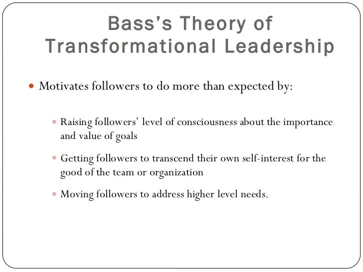 the important role of the six attributes in the transformational leadership theory This study linked traits from the 5-factor model of personality  transformational leadership theory  leader self-confidence plays an important role in.