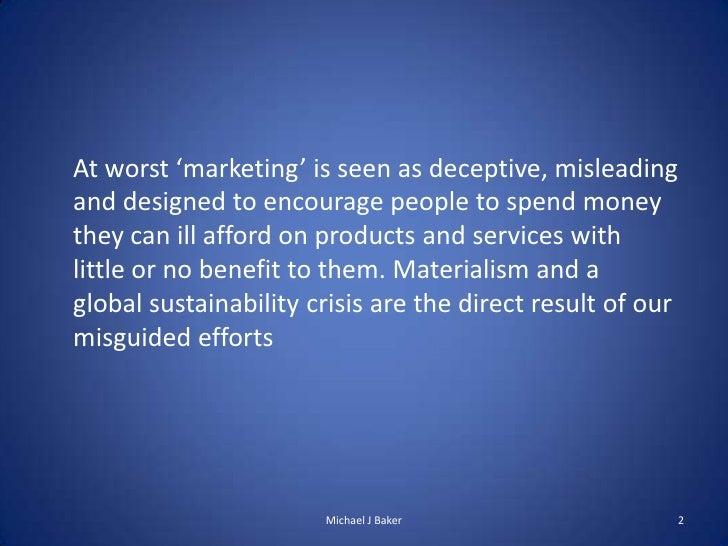 Transformational marketing Slide 2