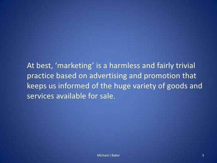 Transformational marketing Slide 3