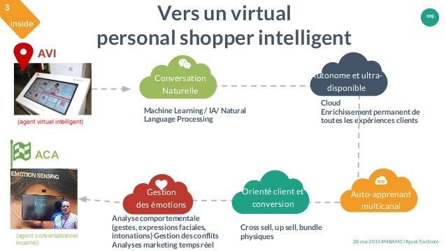 28 mai 2015 #MBAMCI #geekTonStore 105 Conversation Naturelle Auto-apprenant multicanal Gestion des émotions Vers un virtua...