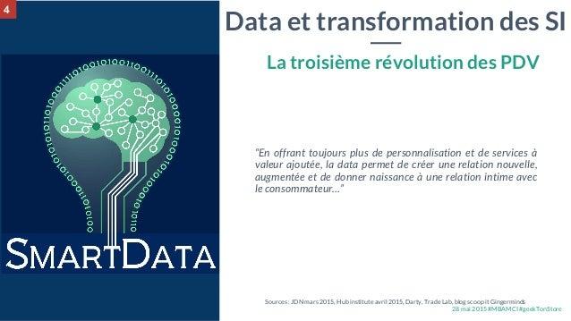 """28 mai 2015 #MBAMCI #geekTonStore Data et transformation des SI """"En offrant toujours plus de personnalisation et de servic..."""