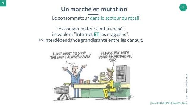 """28 mai 2015 #MBAMCI #geekTonStore 19 Les consommateurs ont tranché : ils veulent """"Internet ET les magasins"""". >> interdépen..."""