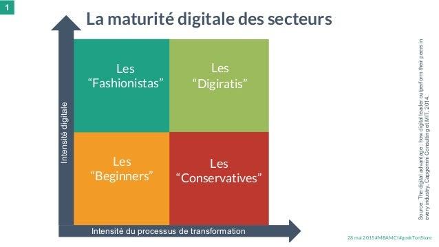 """28 mai 2015 #MBAMCI #geekTonStore Les """"Digiratis"""" Les """"Beginners"""" Les """"Conservatives"""" Les """"Fashionistas"""" La maturité digit..."""