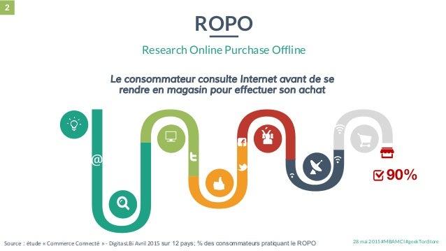 28 mai 2015 #MBAMCI #geekTonStore Le consommateur consulte Internet avant de se rendre en magasin pour effectuer son achat...