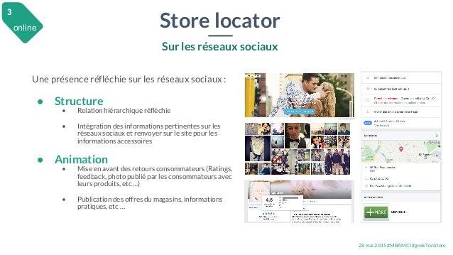 28 mai 2015 #MBAMCI #geekTonStore Store locator Sur les réseaux sociaux Une présence réfléchie sur les réseaux sociaux : •...