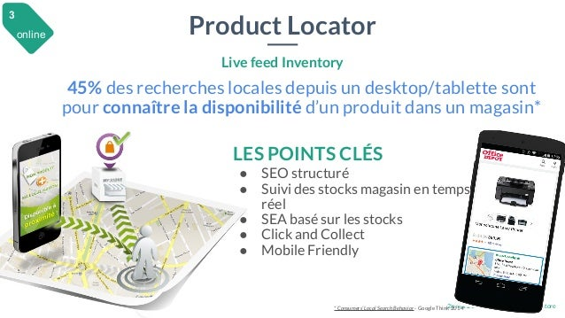 28 mai 2015 #MBAMCI #geekTonStore Product Locator Live feed Inventory 45% des recherches locales depuis un desktop/tablett...