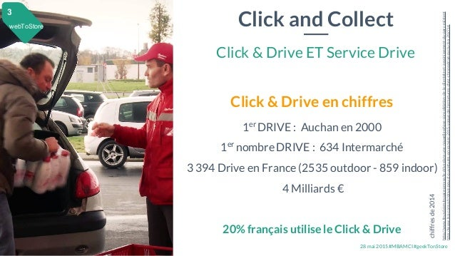 28 mai 2015 #MBAMCI #geekTonStore Click and Collect Click & Drive ET Service Drive webToStore 3 Click & Drive en chiffres ...