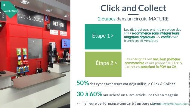 28 mai 2015 #MBAMCI #geekTonStore Étape 1 > Étape 2 > Click and Collect Les distributeurs ont mis en place des sites e-com...