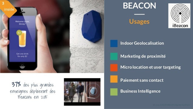 28 mai 2015 #MBAMCI #geekTonStore Indoor Geolocalisation Marketing de proximité Micro location et user targeting Paiement ...