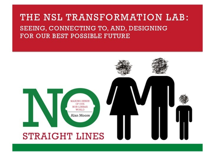 THE NSL TRANSFORMATION LAB:SEEING, CONNECTING TO, AND, DESIGNINGFOR OUR BEST POSSIBLE FUTURE