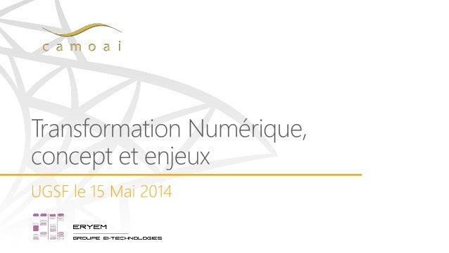 Consultant Transformation Numérique – Co- fondateur et associé à Camoai jm.touzard@camoai.com