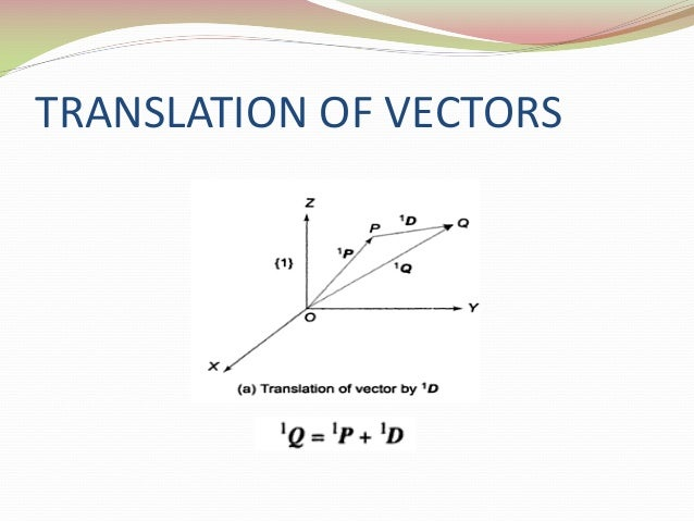 Transformation of Vectors w r t  Objects