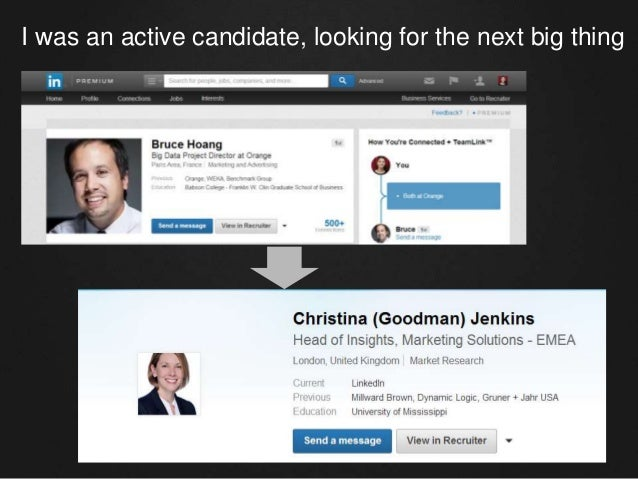 I was an active candidate, looking for the next big thing