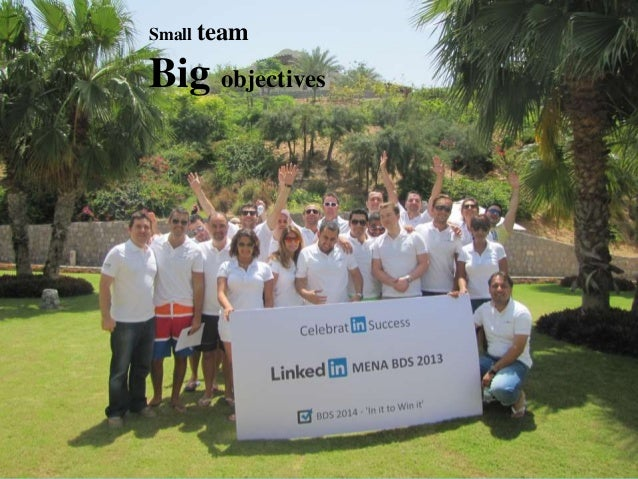Small team  Big objectives