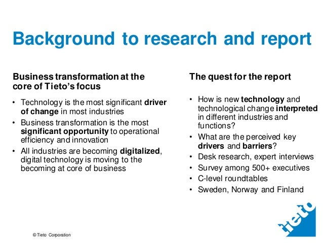 Future of business transformation market research summary Slide 2