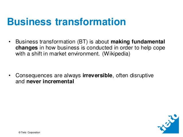 Future of business transformation market research summary Slide 3