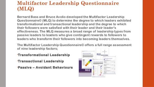 Multifactor leadership questionnaire