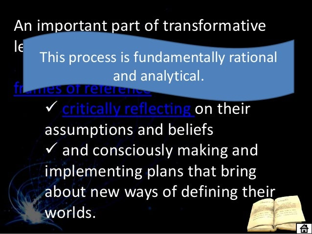 Transformative pedagogy and learning