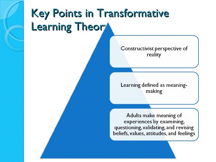 Transformative Learning Slides Revised For October 15 Class
